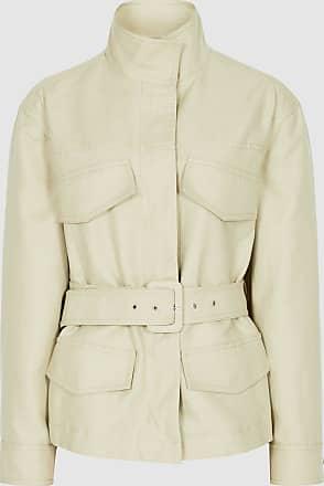 Reiss Eden - Cotton-blend Utility Jacket in Light Green, Womens, Size 12