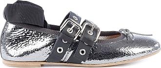 PARIS TEXAS Fashion Woman PX60CANNADI Silver Leather Flats | Season Outlet