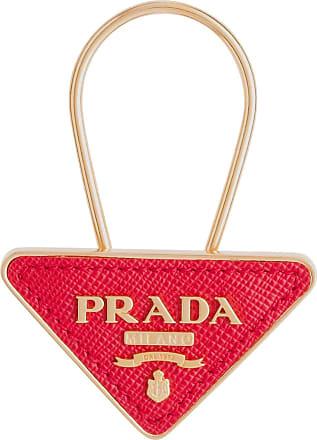 Prada logo keyring - Vermelho