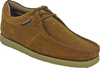 Lambretta Wallabee Classic Leather Shoes Mens Retro (UK 11 / EU 45, Cognac Suede)