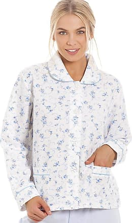Camille Classic Rose Print Quilted Bed Jackets 18/20 Blue