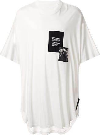 Julius Camiseta oversized com patchwork - Branco