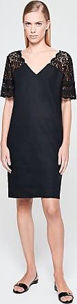 Escada Sport Lace-Trimmed Linen Dress
