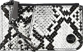 Quay Eyeware Top Zip Wallet (White/Black/Gun) Handbags