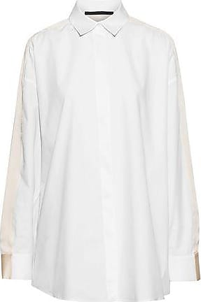 Haider Ackermann Haider Ackermann Woman Oversized Silk Satin-trimmed Poplin Shirt White Size 42