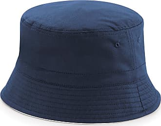 Beechfield Reversible Bucket HAT (L/XL, French Navy/White)