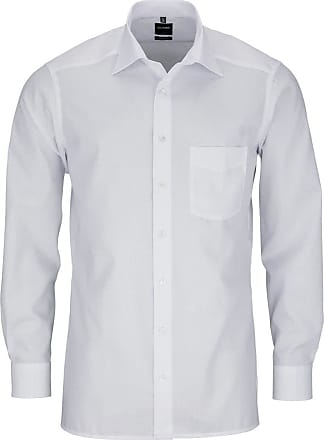 Olymp Mens Shirt Modern Fit Extra Short Sleeves - White - XXL