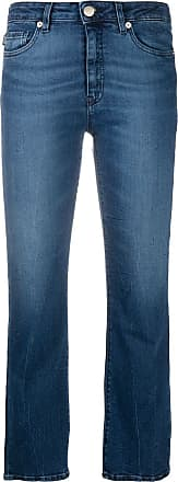 Love Moschino Calça jeans cropped com patch de logo - Azul