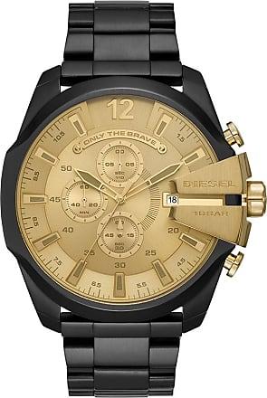 Diesel Relógio Black And Gold Preto - Homem - Único IT