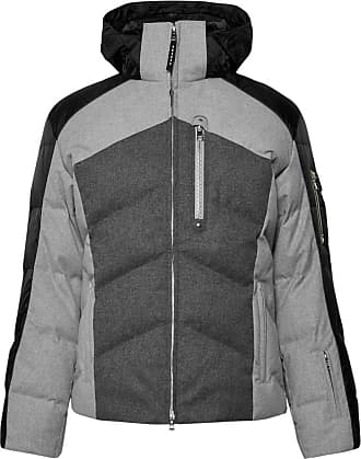 Bogner Evan Quilted Flannel Hooded Down Ski Jacket - Gray dbbda9937