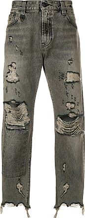 R13 distressed patch jeans - Grey