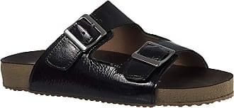 Doctor Shoes Antistaffa Sandália Feminina Birks em Couro Verniz Preto 214 Doctor Shoes-Preto-36
