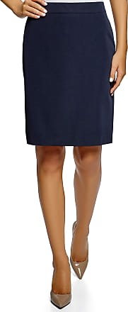 oodji Collection Womens Basic Straight Skirt, Blue, UK 6 / EU 36 / XS