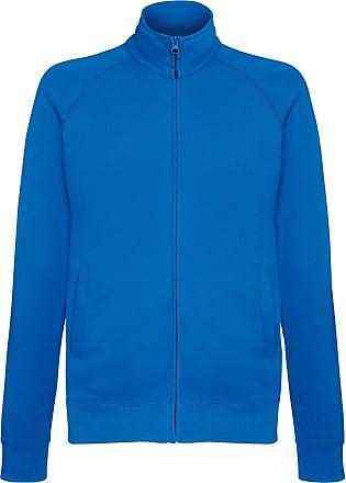Fruit Of The Loom Mens Lightweight Full Zip Sweatshirt Jacket (XL) (Royal Blue)