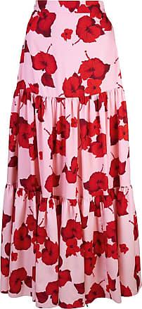 Borgo De Nor Red Hibiscus print skirt - Rosa