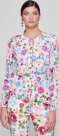 Escada Cotton Blend Printed Cardigan