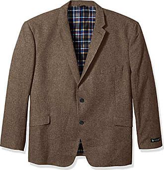 U.S.Polo Association Mens Big and Tall Wool Blend Sport Coat, Brown, 58 Long