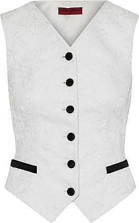 Dolce & Gabbana Dolce & Gabbana Woman Satin-trimmed Cotton-blend Matelassé Vest Ivory Size 40