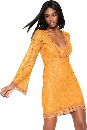 Colcci Vestido Colcci Curto Renda Amarelo