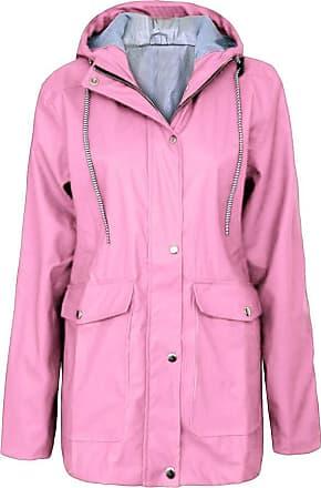 NPRADLA iHAZA Winter Women Autumn Casual Daily Coats Women Solid Rain Jacket Outdoor Plus Waterproof Hooded Raincoat Windproof Pink