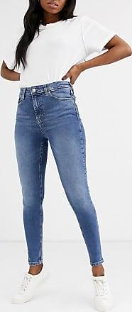 Topshop Jamie - Enge Jeans in mittelblauer Waschung