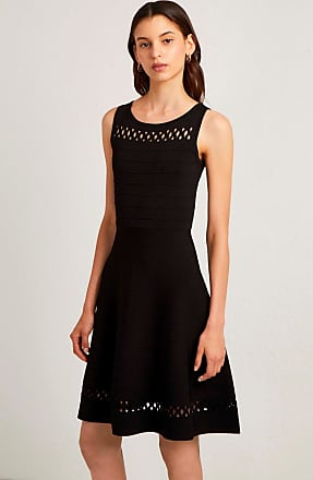 French Connection Kai Crepe Knit Fit and Flare Dress