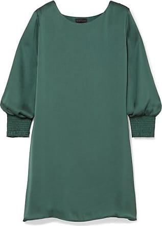 b01f92aff6 Hatch The Ella Smocked Satin Mini Dress - Forest green