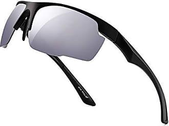 JIM HALO Polarisiert Sport Sonnenbrille Spiegel Wickeln Um