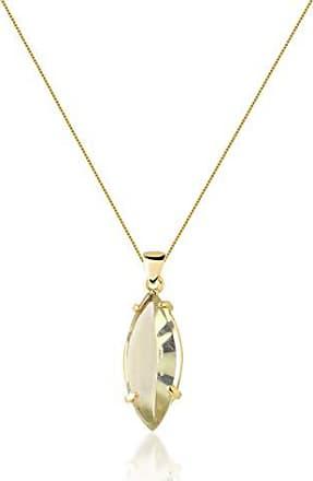 Toque De Joia Colar longo semijoia pêndulo navete pequena quartzo green gold