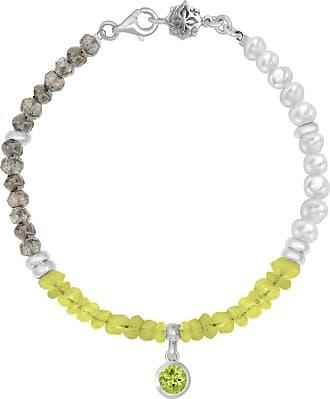 Dower & Hall Peridot, Pearl & Labradorite Orissa Bracelet