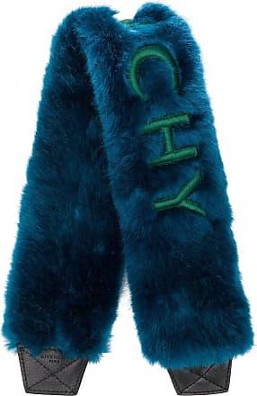 Givenchy Estola de pele com logo - Azul