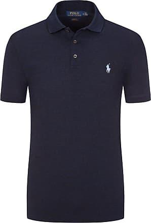 Polo Ralph Lauren Stretch Mesh Poloshirt, Slim Fit von Polo Ralph Lauren in Marine für Herren