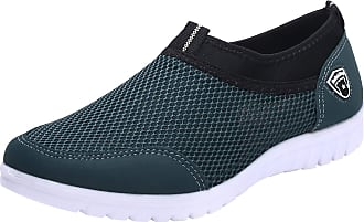 Jamron Mens Casual Slip-on Breathable Mesh Multisport Trainers Fitness Shoes Blue SN01063 UK7