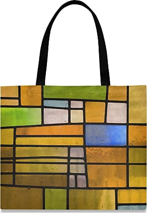 XiangHeFu High Quality Pencil Case Pocket Holder Office Big Zipper Pouch Stained Glass Window