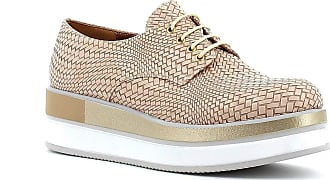 Generico Portofino Shoes with Wedge and Laces, Made in Italy - Beige Beige Size: 8 UK