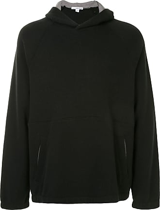 James Perse Terry seamed hoodie - Black