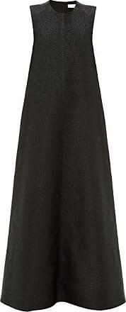 Raey Sleeveless Glitter-effect Trapeze Dress - Womens - Black