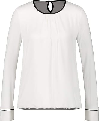 Gerry Weber Womens 270279-35079 Long Sleeve Top, Off-White (Off-White 99700), 20 (Size: 46)