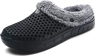 Daytwork Fur Lined Slides Flip Flops Shoes - Warm Winter Mules Clogs Garden Women Lightweigth Breathable Slipper (Shoes is Smaller)
