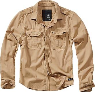 Brandit Vintage Shirt Men Longsleeve Camel 3XL, 100% Cotton, Regular