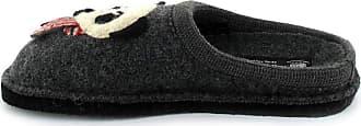 Haflinger 313061-0 Flair Panda Womens Slippers, schuhgröße_1:37 EU, Farbe:Grey