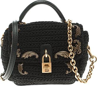df848bef22f8 Dolce   Gabbana Dolce And Gabbana Black Crochet Padlock Crossbody Bag