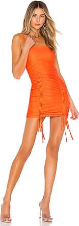 Superdown Zariah Drawstring Dress in Orange