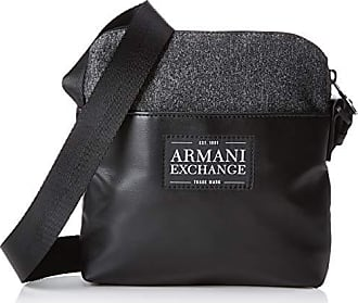773ceec2379db7 Armani Small Crossbody Bag - Borsa Messenger Uomo, Nero (Dark Grey/Black)