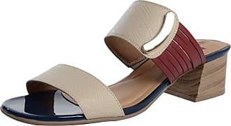 Laura Prado Tamanco Laura Prado Confort Marfim/Vermelho