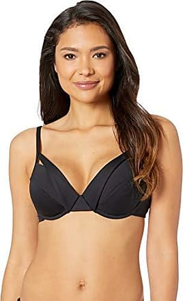 La Blanca Womens Island Goddess Underwire Hipster Bikini Swimsuit Top, Black, 14