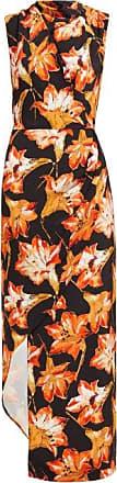Raey Cowl-neck Asymmetric Lily-print Silk Dress - Womens - Red Print