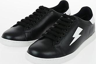 Neil Barrett Leather THUNDERBOLT TENNIS Sneakers size 43