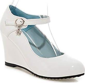 Mary Jane Schuhe Plattform lila Runde Spitze Schleife High Heel Damenschuhe