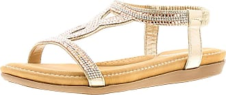 Dunlop Cynthis Womens Synthetic Material Flats Sandals Rose Gold - 7 UK
